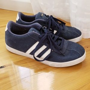 Adidas Women's Courtset navy blue suede sneakers